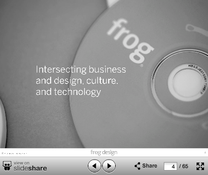 Frog Design, Ideo, Stone Yamishita