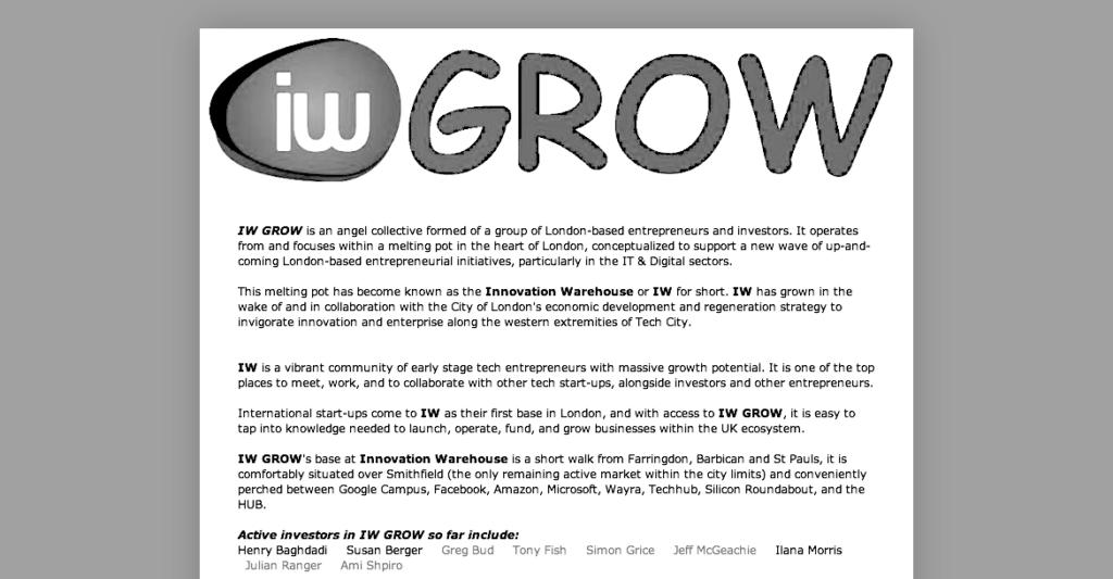 Innovation Warehouse Grow Network