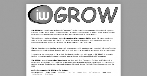 Innovation Warehouse Grow Network