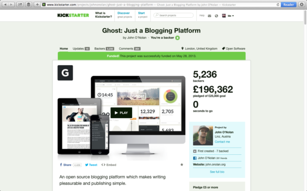 Ghost Kickstarter