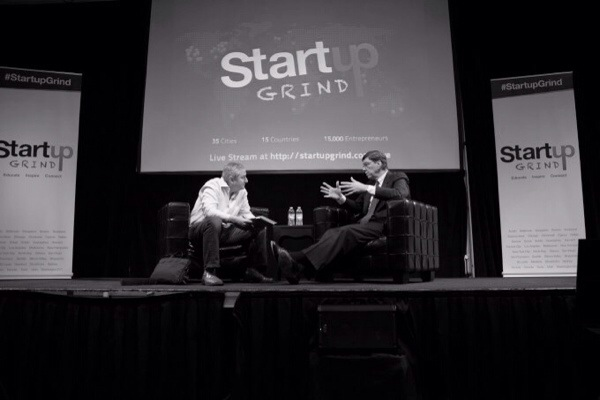 VC investor Mark Suster and business author Clayton Chistensen at Startup Grind.