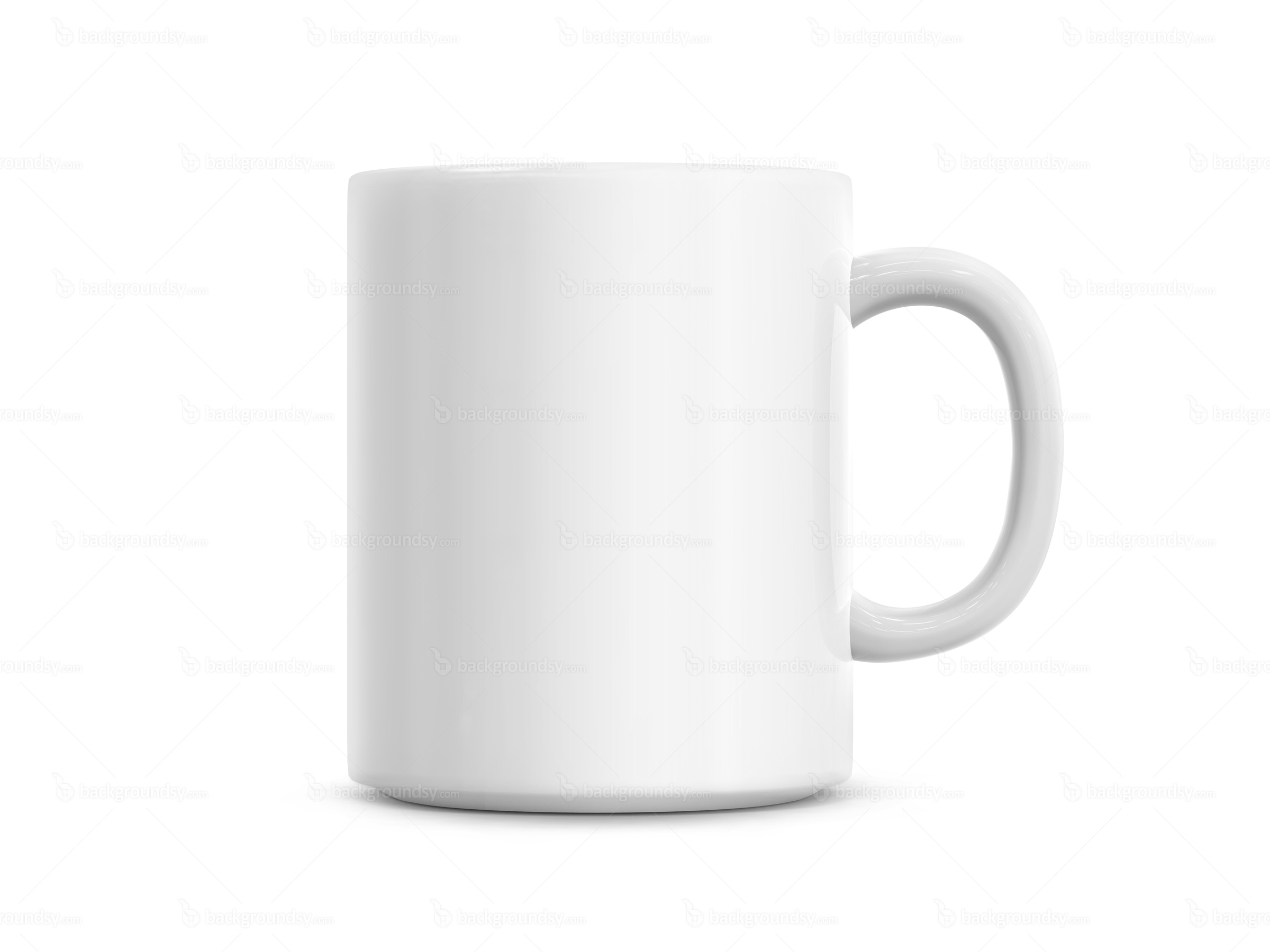 White Coffee Cup Peter J Thomson