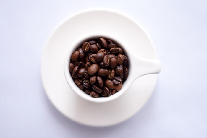 Burned coffee beans